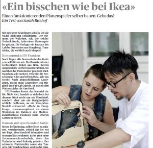 """""""Ein bisschen wie bei Ikea"""", Selbstversuch Plattenspieler bauen (TA, 20.7.2015)"""