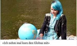 """""""Ich nehm mal kurz den Globus mit"""" - Interview als blauhaarige Pony Hü im Herbst 2014"""